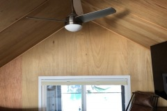 Boathouse bedroom with no air conditioning