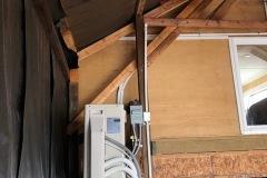 Fujitsu inverter heat pump installed in boathouse