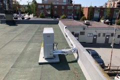 Multi zone inverter heat pump condensing unit installed on roof
