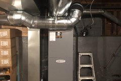 Armstrong Air variable speed air handler with all new ductwork installed for happy clients