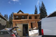 Start of a custom home by Stanhope Projects.