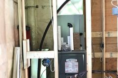 Zoned modulating Natural Gas Furnace Heating system with modulating air conditioning.