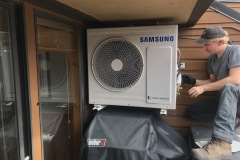 Eric commissioning the Samsung digital inverter condenser.