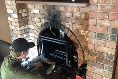 Eric placing new Ironstrike gas insert in place