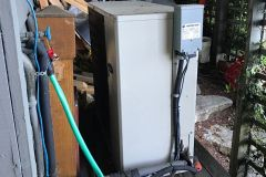 Decommissioning the outdated and inefficient R22 heat pump.